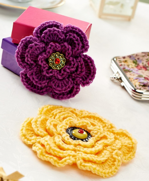 Layered Brooches