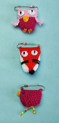 Quirky brooches
