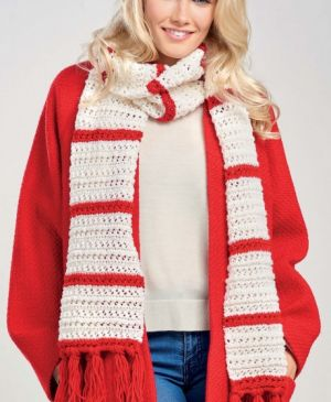 Charming Candy Stripe Scarf