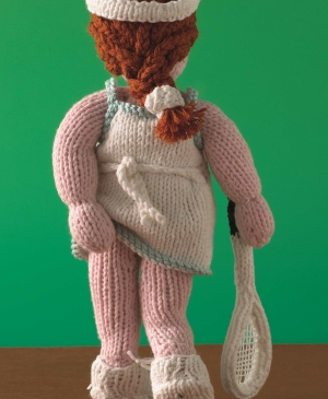 Knit an Athena Poster Girl