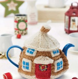 Cute & Christmassy Cotswold Cottage Teacosy