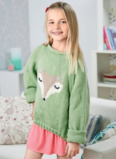 Woodland teen sweater