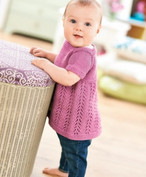 Girl's Knitted Pinafore Dress