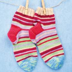 Men's Stripy Socks Knitting Pattern