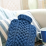 Cabled hot water bottle cover