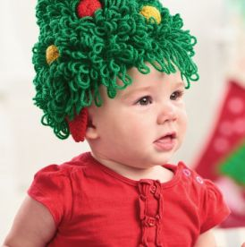 Christmas Tree Baby and Child's Hat