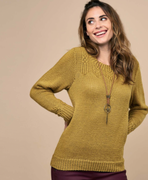 Wrap Yoke Sweater