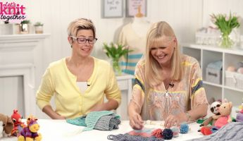 How to: add fringing Knitting Video