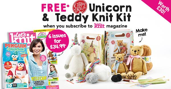 FREE* Crafty Kit Co. Unicorn & Teddy Knit Kit